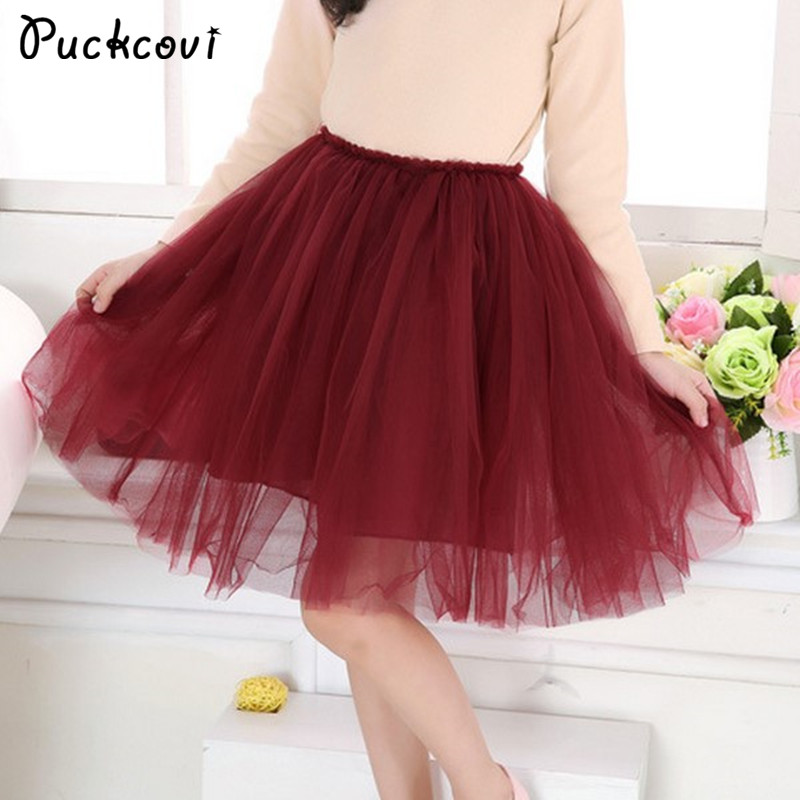 Girls skirts Children Pleated tutu skirt Girl multilayer grenadine ra-ra skirt sweet princess design elastic waistband Ball gown girls catwoman cosplay for kids christmas party performance halloween costume cute kids girls cat kitty princess dress with hair
