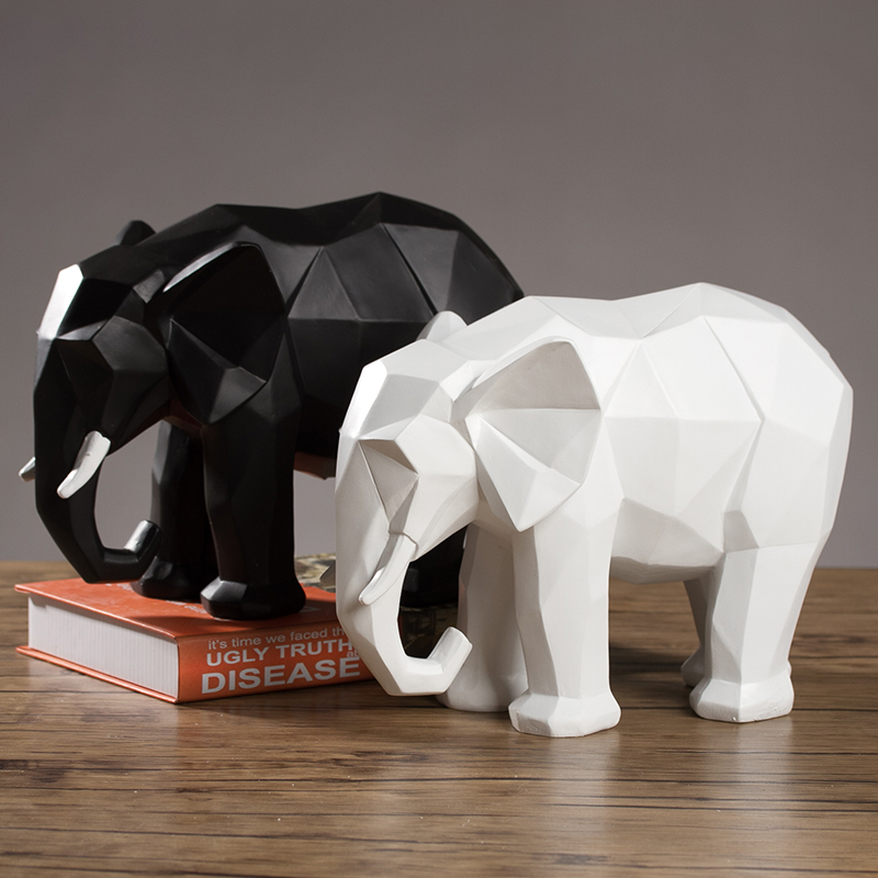 The, Entrance, Origami, Resin, Elephant, Ornaments