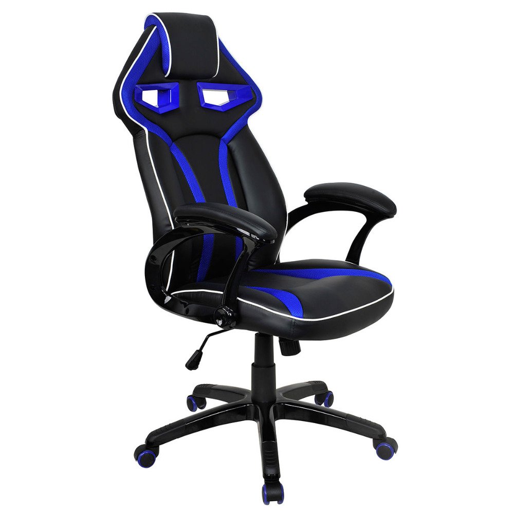 Racing Bucket Seat Office Chair High Back Gaming Chair Desk Task Ergonomic New HW54987BL 240340 high quality back pillow office chair 3d handrail function computer household ergonomic chair 360 degree rotating seat
