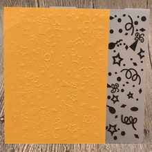 Fireworks Plastic Embossing Folders for Card Making DIY Scrapbooking Paper Craft Template