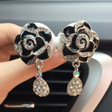 JOORMOM Rhinestone flower car out of the air perfume water drill accessories Car ornaments for women
