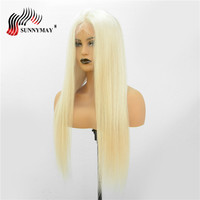 Indian Virgin Hair Blonde #60 Color Full Lace Human Hair Wigs Silk Straight Hair Pre Plucked With Baby Hair Natural Hair Line