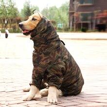 TAILUP Ropa Para Perros Camuflaje Impermeable Ropa Impermeable Perro Grande Golden Retriever Luz Impermeable con Capucha Trajes de Mascotas