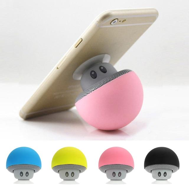 Cogumelo sem fio Bluetooth Mini Speaker Portátil Stereo Bluetooth Speaker À Prova D' Água para o Telefone Móvel iPhone Xiaomi Computador
