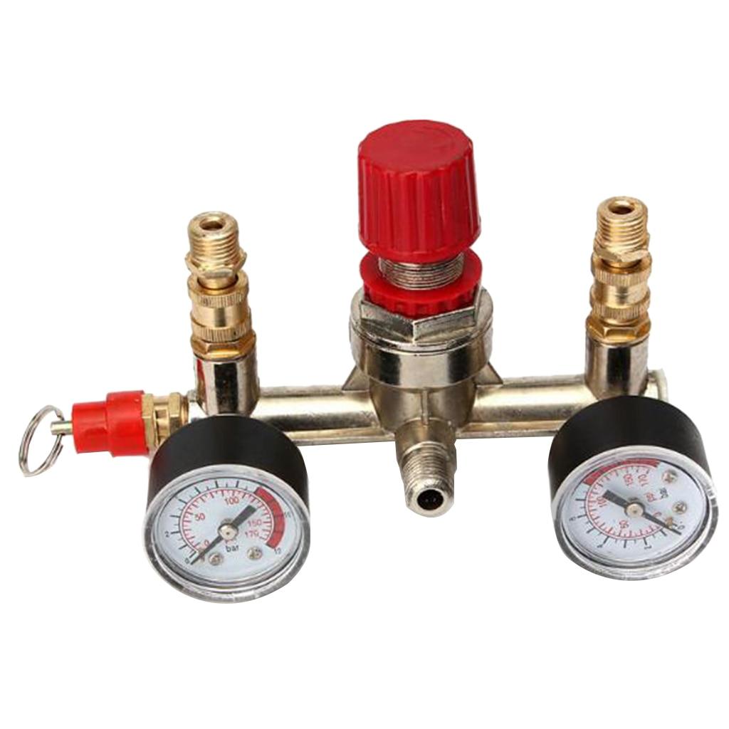 Image 2 - Air Compressor Pressure Valve Switch Manifold Regulator Gauge 175psi-in Pneumatic Parts from Home Improvement