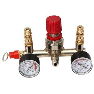 Image 2 - Zawór ciśnieniowy sprężarki powietrza przełącznik wskaźnik regulatora kolektora 175psi