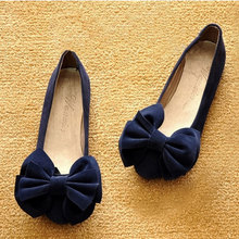 OCHENTA2016 spring and autumn students scoop shoes flat shoes single female bow big round code 4043 women's shoes