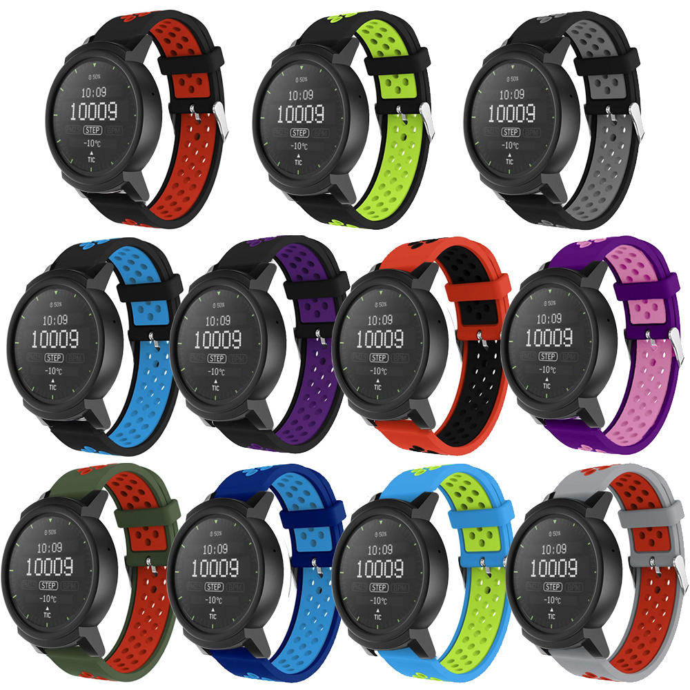 Sport Silicone Watch Band Strap for Ticwatch 2 Smart Watch Bracelet Colorful Replacement 20mm wrist band strap for ticwatch e цены онлайн