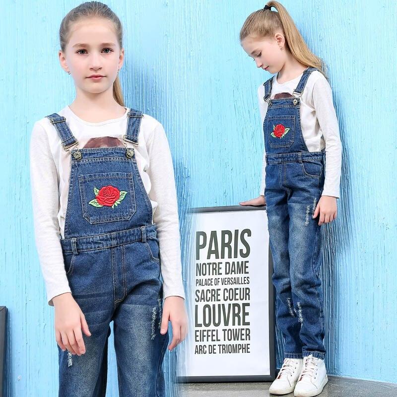 meilleures baskets e7a36 f05f7 Enfants Fille Denim Salopettes Pour Enfants Automne ...