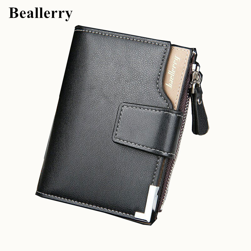 Wallet män läder män plånböcker handväska kort manlig koppling läder plånbok män Baellerry varumärke pengar väska kvalitet garanti