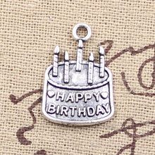 8pcs Charms birthday cake 18x15mm Antique Making pendant fit,Vintage Tibetan Silver,DIY bracelet necklace(China)