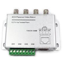 4 Way UTP 4 Channels Passive Video Balun Transceiver Cat5 BNC CCTV Via Twisted Pairs Support HDCVI/AHD/TVI Camera