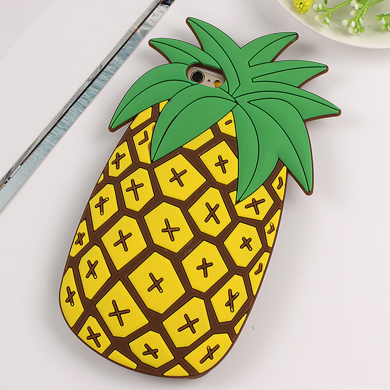 best loved a7926 b6e55 US $4.99 |JAMULAR 3D Fruit Pineapple Phone Soft silicone Case For iPhone 8  6 6s 7 Plus Back Cover Case Fundas For iphone 7 8 Plus Shell-in Fitted ...