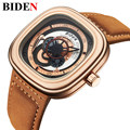 2017 Men Watch Top Brand BIDEN Luxury  Men's Quartz Watch Sport Military WaterproofWatches Men Leather Relogio Masculino Montre