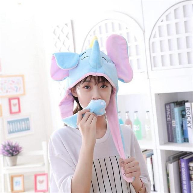 Плюшевая шапка Слон  2