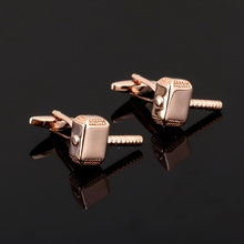 XK124 High quality men's business Cufflinks rose gold color Cufflinks hammer French Shirt Mens Clothing accessories