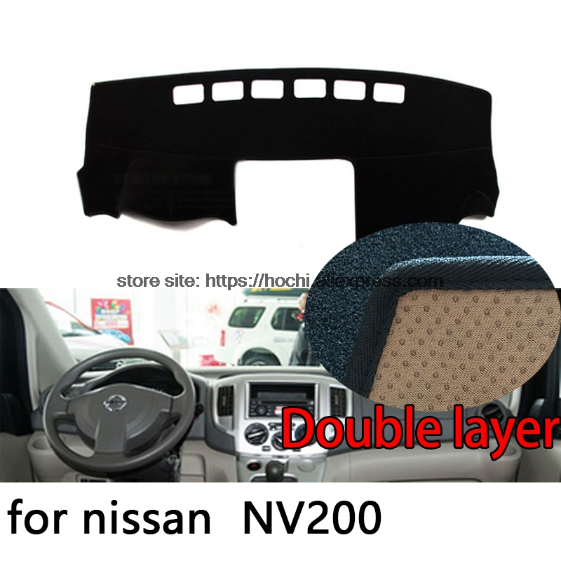 For nissan NV200 Double layer Silica gel Car Dashboard Pad Instrument Platform Desk Avoid Light Mats Cover Sticker for toyota crown 2004 2016 double layer silica gel car dashboard pad instrument platform desk avoid light mats cover sticker