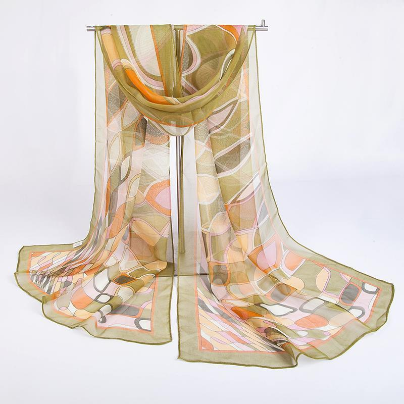 Irregular Plaid Silky Scarf | Lightweight Scarves | Up to 60% Off Now
