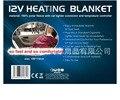 Автомобильное электрическое нагревательное одеяло  коврик для путешествий  Флисовое одеяло для кемпинга  красное  черное  Клетчатое одеяло...