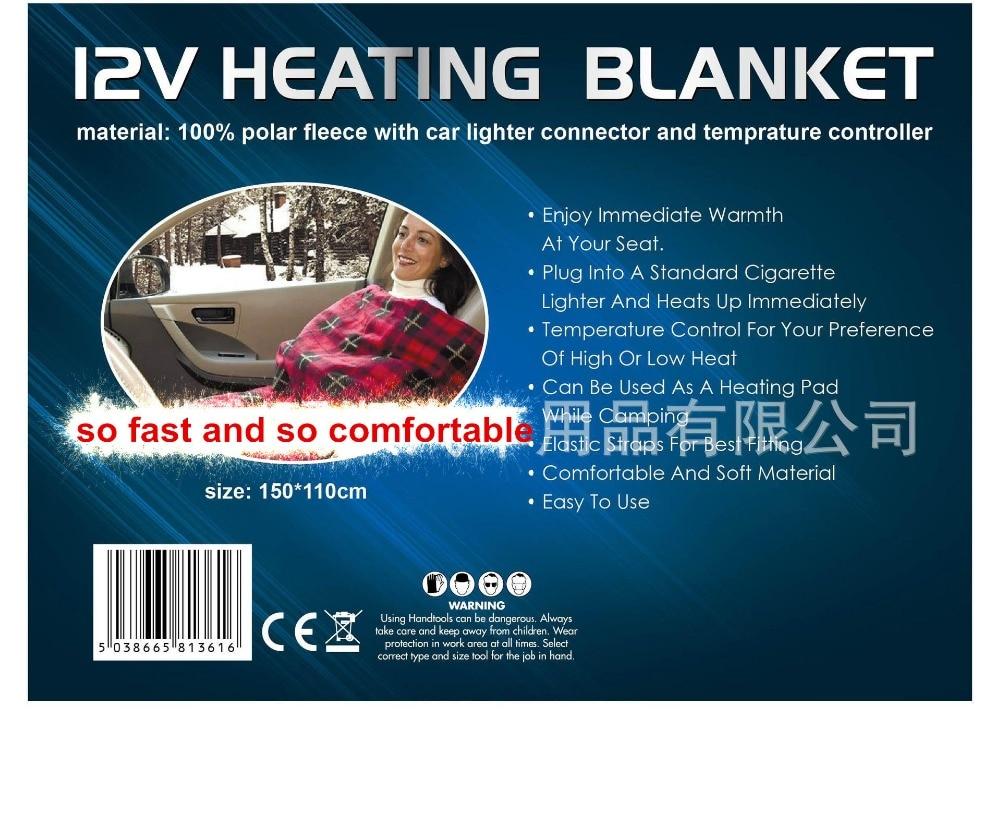 Car Electrical Heating <font><b>Blanket</b></font> Travel Rug Throw Polar Fleece Caravan Camper Red Black Plaid <font><b>Blanket</b></font> seat heated mat <font><b>blanket</b></font>