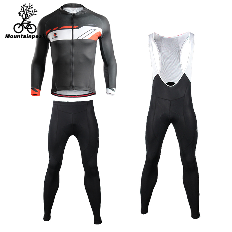 Mountainpeak 2018 Summer Long Sleeve Suit Mens Cycling Suit Womens Tight Riding Pants Panties Roupa Ciclismo Conjunto Ciclismo