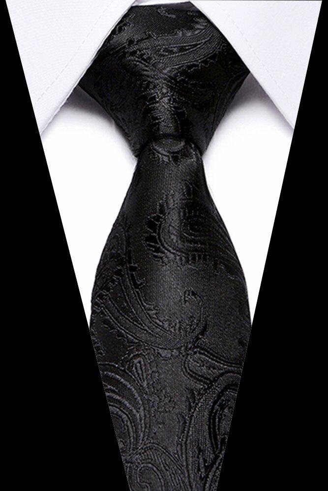Men ties necktie Men 39 s vestidos business wedding tie Male Dress gift gravata Black paisley tie men JACQUARD WOVEN 7 5cm in Men 39 s Ties amp Handkerchiefs from Apparel Accessories