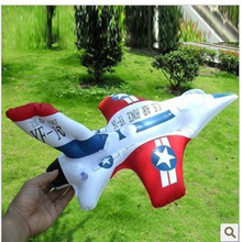 free shipping new arrived 10pcs/lot fashion Fighter Model InflationToys Inflatable Plane Children Toy Outdoor Toys wholesale