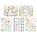 1 folha de unhas autocolante palm tree flamingos água transfer stickers prego decalques adesivos água decal nail art ferramentas 11 padrões