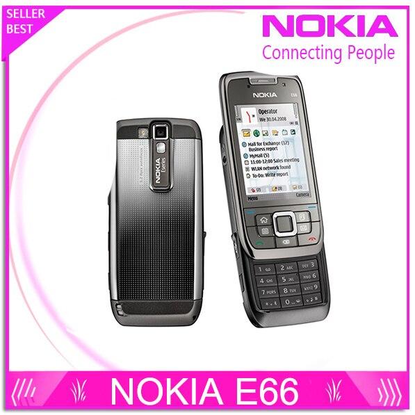 Восстановленное E66 Оригинальный Разблокированный Телефон Nokia E66 GSM WCDMA WI-FI Bluetooth 3.15MP Камеры Сотовых Телефонов