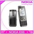 Reformado teléfono nokia e66 e66 desbloqueado gsm wcdma wifi bluetooth cámara 3.15mp teléfonos celulares