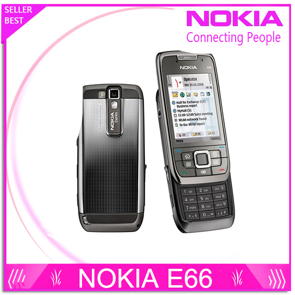 Refurbished E66 Original Unlocked Phone Nokia E66 GSM WCDMA WIFI Bluetooth 3 15MP Camera Cell Phones