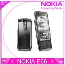 Rénové E66 Débloqué Original Téléphone Nokia E66 GSM WCDMA WIFI Bluetooth 3.15MP Caméra Téléphones Cellulaires