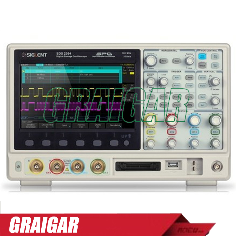 цена Siglent 28M Deep memory SDS2074 super phosphor oscilloscope,70MHz portable oscilloscope,4 channels oscilloscope
