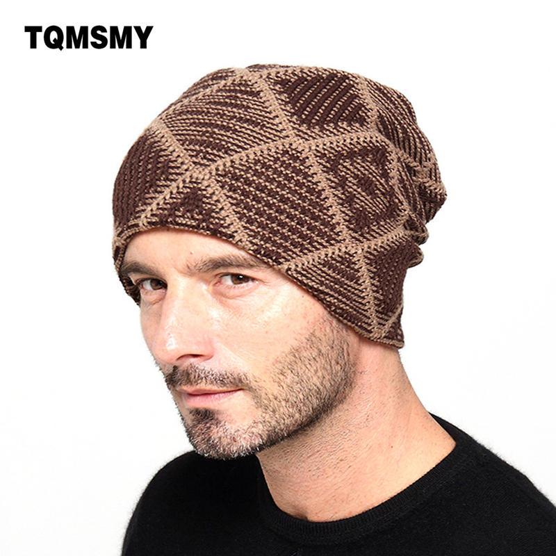 2017 New brand Winter Beanies men Knitted wool hat Warm Soft Beanie plus velvet Cap bonnet Gorros Caps For Men Women Turban hats купить
