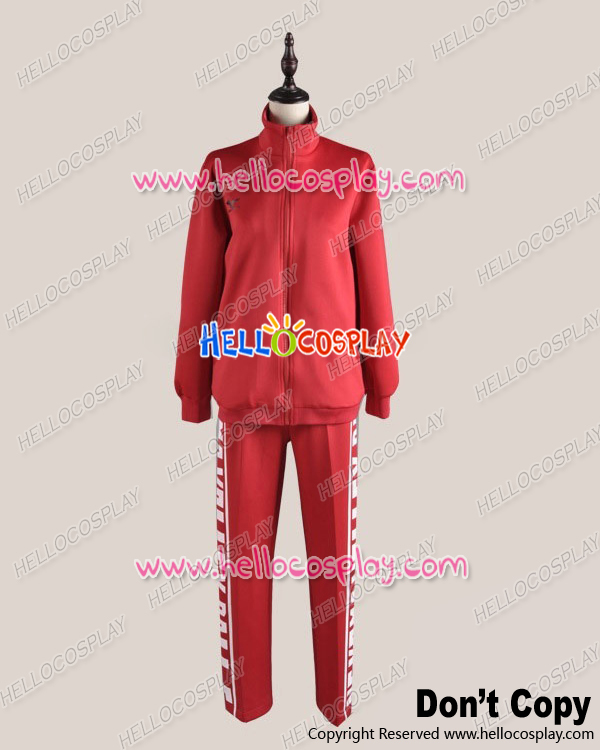 Haikyu Cosplay Juvenile Red Sportswear Uniform Costume H008