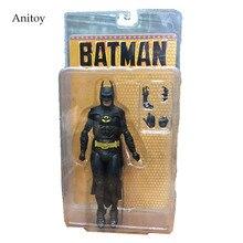 NECA figura de acción de Batman, Michael Keaton, juguete de modelos coleccionables de PVC, 25 ° aniversario, 18cm, KT2974, 1989