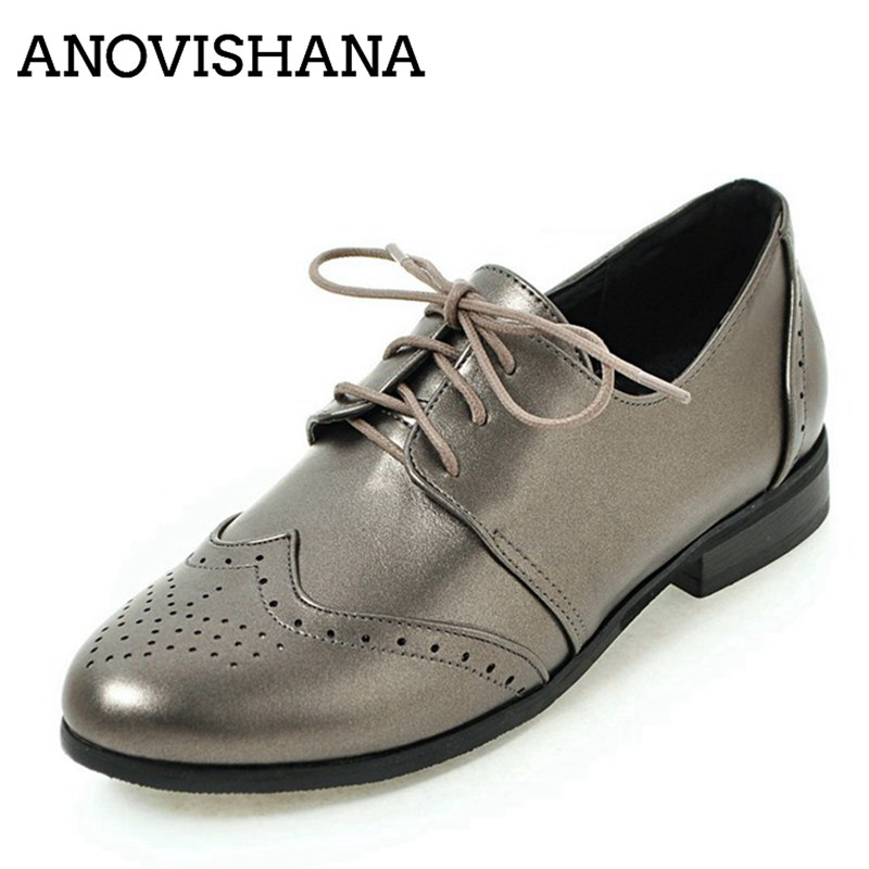 Oxford Femmes Femininos Mode Sapatos Automne Mocassins qiang Brogue Black B311 Chaussures Femme 2018 Zapatos beige Appartements Anovishana 8PdRwq8