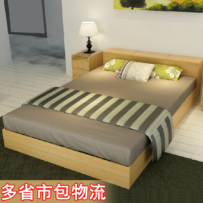 buy simple modern japanese style tatami bed bed storage box korea style high double bed plate bed meters korean from reliable bed - Tatami Bed