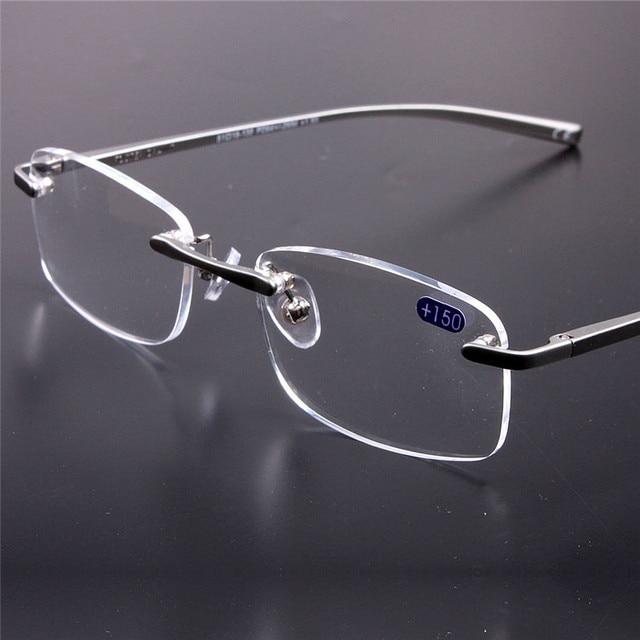 1fa4ce530c Sin marco Gafas de Presbicia Gafas de Lectura Mujer Hombre HD Lente Redondo Gafas  Sin Montura