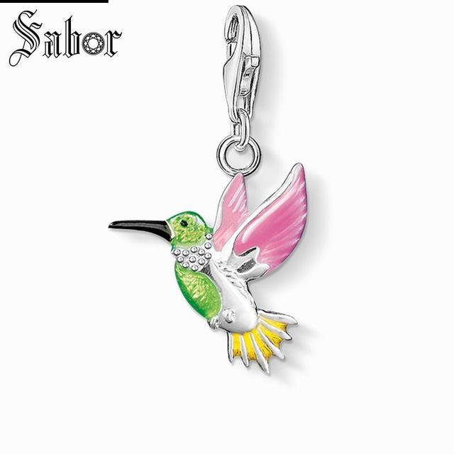 e91648e82 thomas Colorful Hummingbird Charm,2019 Jewelry For Women Girls,womens Bird  Gift 925 Sterling