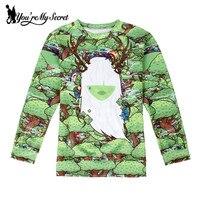 [Sie sind My Secret] 2017 Neue Autumg Moleton Sweatshirts Frauen Ziegen Digital Print Hoodies Weihnachtsbaum Christ Geschenk Winter Herbst