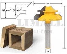 SHK: 6,35мм — инструмент для работы с деревом для зарезки фрезы с помощью ножа 1/4Х1-3/8 дюйма, для фигурной резки, с возможностью резки под углом 45°