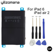 YILIZOMANA For iPad 6 / iPad Air 2 7340mAh Li-ion Internal Original Replacement Battery for iPad 6 Air 2 A1566 A1567 with Tools yilizomana for ipad air 2 battery 7340mah li ion internal original replacement battery for ipad 6 air 2 a1566 a1567 with tools