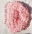 5 yardas helado lindo color rosa pompom franja de ajuste bordado bola Accesorios cosen 0.8 bola