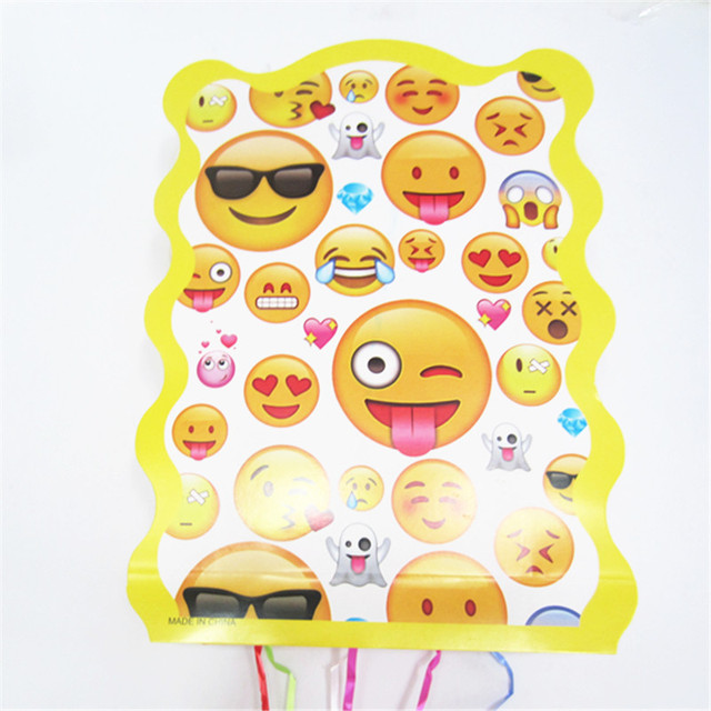 1PCS Emoji Folding Pinata Kids Birthday Party Game Decoration Funny Supplies