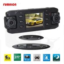 Оригинальный Двойной объектив автомобиля Камера X8000 Full HD 1080p с gps трекер два объектива автомобиль Видеорегистраторы для автомобилей регистраторы Регистраторы g-сенсор CA365