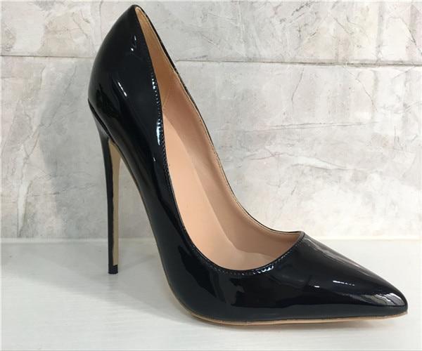 Marca Logo Patant Zapatos De 12 Mujer Para 34 Cm Moda Tacón 8cm Alto 12cm Boda 10 Incluye 8 Puntiagudos 10cm 44 Cuero suzuki SpqgwICI