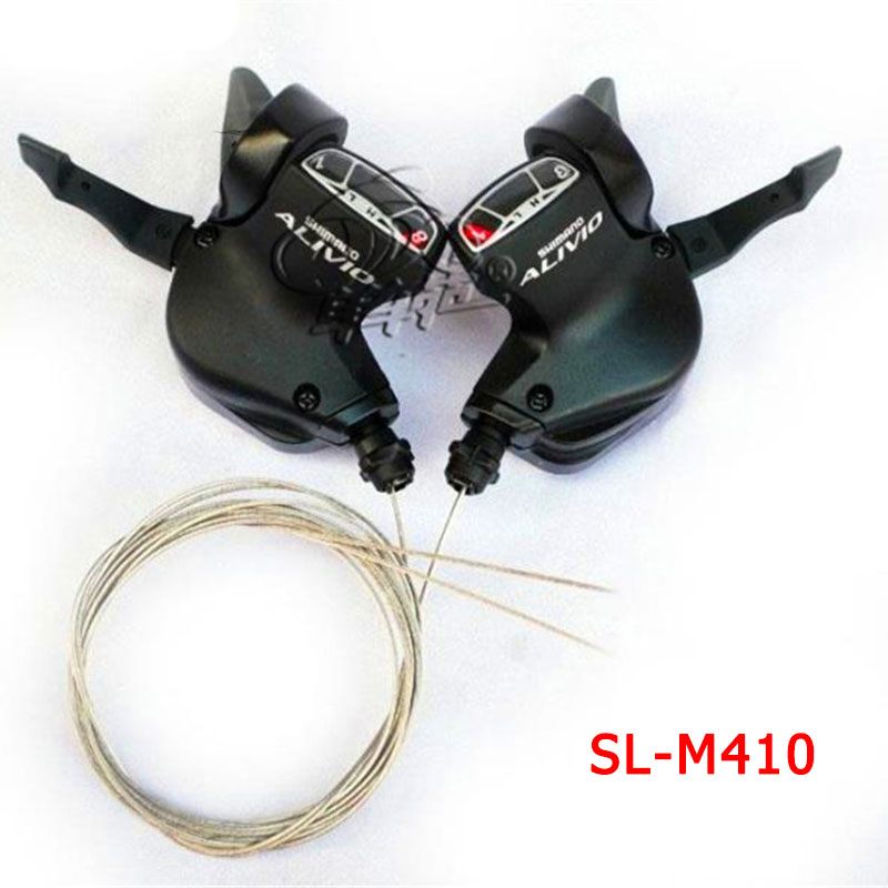 Original SHIMANO ALIVIO SL M410 3X8S 24S Speed Shifter Lever Trigger Left&Right Pair with inner shift Cable MTB Bicycle Parts