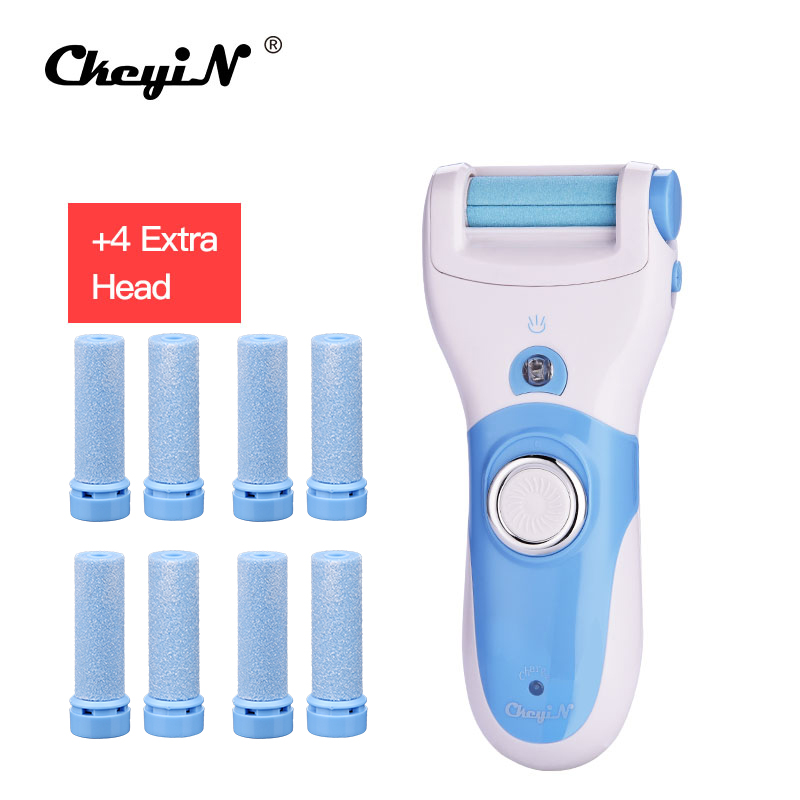 CkeyiN Electric Foot Care Tool + 10pcs Roller Rechargeable Pedicure Peeling Feet Care Machine Express Dead Skin Callus Removal46