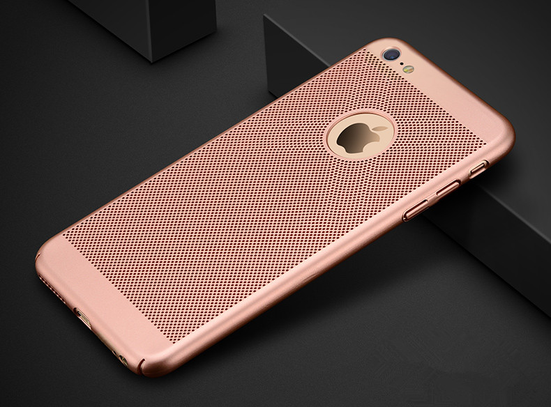 HTB1 p0Hl1ySBuNjy1zdq6xPxFXam - Dreamysow Hollow Heat Dissipation Hard PC for iPhone X 10 8 7 6 XS max XR 6S Plus 5S SE Phone Case Matte Protective Cover Coque